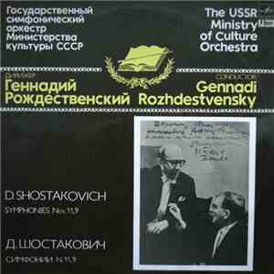 D. Shostakovich / The USSR Ministry Of Culture Orchestra , Conductor Gennadi Rozhdestvensky - Symphony Nos. 11, 9 download free
