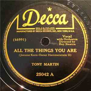 Tony Martin  - All The Things You Are / The Last Time I Saw Paris download free